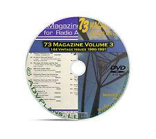 73 Magazine Volume 3, 1980-1991, 144 Ham Amateur Crystal Radio Magazine DVD B98