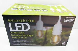 NEW Feit Electric 48' LED Filament Outdoor String Light Set White Commercial Wet