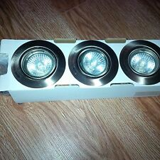 Spotlight  LED Chrome NEW FREE POST   Massive Opal  (Includes 3 x 50 Watts Bulb)