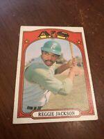 1972 Topps Reggie Jackson Oakland Athletics #435 Baseball Card  Nice centered