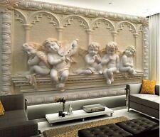 Wallpaper 3d Bedroom Mural Roll Modern Luxury Embossed Angel Background