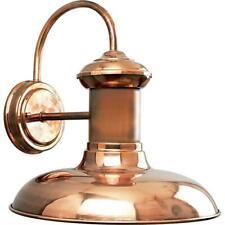 "Progress Lighting Brookside Collection 1-Light 12"" Copper Outdoor Wall Lantern"