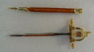 Vintage Spanish Toledo Letter Opener in Sword Shape with Sheath