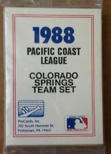 1988 COLORADO SPRINGS SKY BOX PACIFIC COAST LEAGUE PROCARDS TEAM SET