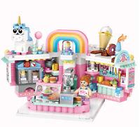 DIY Mini City Cute Figure Bakery Shop Store Toy Building Blocks Bricks Model new