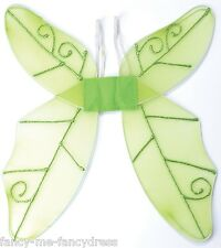 Ladies Green Garden Pixie Fairy Tale Wings Fancy Dress Costume Outfit Accessory