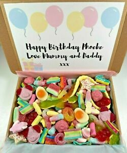 Personalised Pick N Mix Birthday Sweets Gift   Sweet Hamper   Sweet Bouquet Box