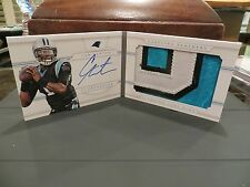 National Treasures Autograph Jersey Booklet Panthers Cam Newton 21/25  2013