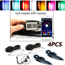 4X Autos Fender Wheel Eyebrow LED Colorful Music Phone App Control Ambient Light
