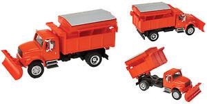 Walthers HO Scale Vehicle International(R) 4300 Dump Truck w/Snowplow - Orange