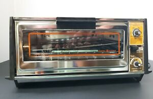 Toaster Oven GE General Electric Toast-R-Oven Chrome Vintage T26/3126 broil