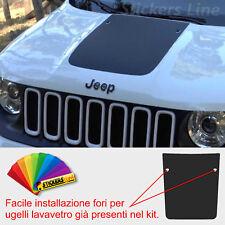 Adesivo cofano Jeep Renegade con fori lavavetri sticker for jeep bonnet