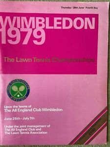 Wimbledon 1979 Official Souvenier Programme LARGE see decription