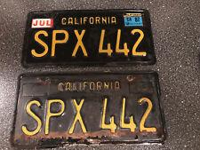 1963 Oldsmobile 442 California license plates SPX 442