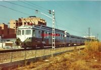 PHOTO  RENFE 3-CAR EMU NO 436 015 AT CALLELA COSTA DORADA RAILWAY STATION 08/72