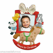 Hallmark 2012  Baby's First  Christmas Photo Holder Ornament