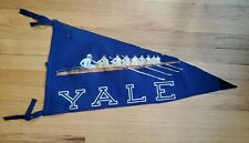 Rare Original Antique Yale College Rowing Team Pennant NO Reserve Skulling
