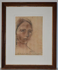 Listed American Artist Maurice Sterne Original Pencil Charcoal Drawing Signed