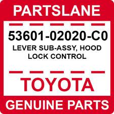 53601-02020-C0 Toyota OEM Genuine LEVER SUB-ASSY, HOOD LOCK CONTROL