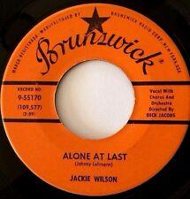 "JACKIE WILSON: ALONE AT LAST / I AM THE MAN (7"" 45RPM BRUNSWICK 9-55170) VG++"