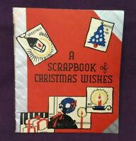 *Vintage SCRAPBOOK OF CHRISTMAS WISHES Greeting Card scrapbooking card used