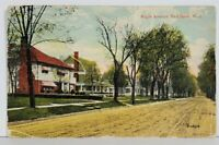 Red Bank NJ Maple Ave Street View c1913 Postcard M14