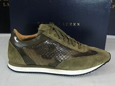 $3500 Ralph Lauren Winfield Camo Snake Skin Suede Leather Sneaker Shoes 10.5 D