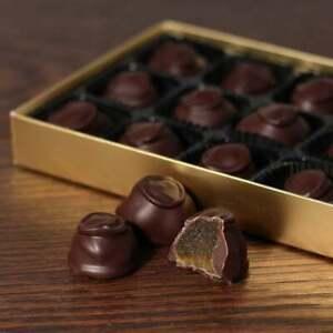 Hand Made English Dark Chocolate Covered Stem Ginger 15 Chocolates Gift Box 170g