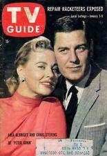 1959 TV Guide January 3-Peter Gunn; Craig Stevens;Dorothy Collins;Carol Channing