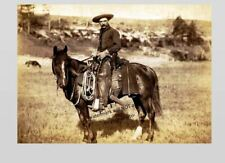 Wild West Cowboy Photo Horse Rancher Country Sky Art Old West 1880s Dakota Terr.