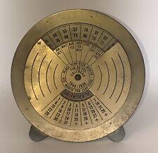 Vintage Brass 55 Year Calendar 1944-1998 Easel Back Decoration Metal Industrial