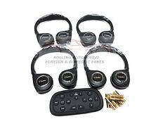 Cadillac Escalade SRX Wireless Headphones w/ DVD Remote KIT New OEM 4pc