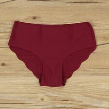 Women Solid Seamless Panties Briefs Underwear Lingerie Knickers Thongs G-String