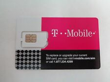 NEW T-Mobile Standard Sim Card 4G LTE UNACTIVATED, REPLACEMENT SIM CARD