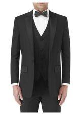 Traje de chaqueta de hombre negra de poliéster