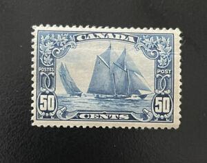 "Canada 1928, 50c Stamp SC 158 /SG 284 ""BLUENOSE SCHOONER"" Mint Hinged *"