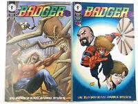 BADGER 1 + 2 of 2 ( US Dark Horse Comics )
