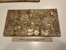 large lot Vintage Old Rare Bronze Jewelry Making Die Molds Seals Stamps