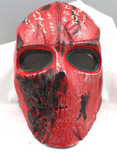 Hot Sell Red Terror Skull Protection Mask For Airsoft Paintball War Games Adult
