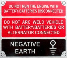 Land Rover Series 2 2a 3 Front Panel Negative Earth Information Plate 396116