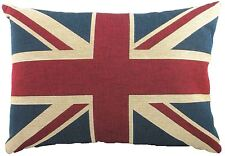 Filled Evans Lichfield Union Jack Flag Made in UK Tapestry Cushion 43 X 33cm