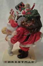 "Gorham 1988 Leyendecker ""Christmas Hug"" Ceramic Statue, Numbered"