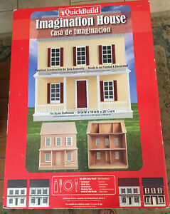 "Real Good Toys Quickbuild Imagination 1"" Scale dollhouse kit NEW SEALED BOX!"