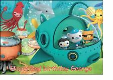 A4 octonauts icing cake topper.