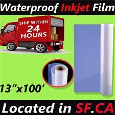"13"" X 100',1 roll,Waterproof Inkjet Silk Screen Printing Transparency Film Paper"