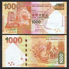 2014 HONG KONG HSBC 1,000 1000 DOLLARS P-216 UNC NR