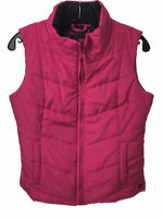 NEW AEROPOSTALE Aero Womens Pink Lightweight Solid Puffy Vest Puffer Medium (M)