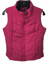 NEW AEROPOSTALE Aero Womens Pink Lightweight Solid Puffy Vest Puffer - Small (S)