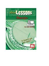 Mel Bay 99799M First Lessons Banjo (Book + Online Audio/Video) by Jack Hatfield