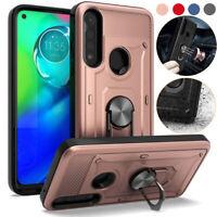 For Motorola Moto G Power 2020/G Stylus Case Hybrid Rugged Ring Stand Hard Cover